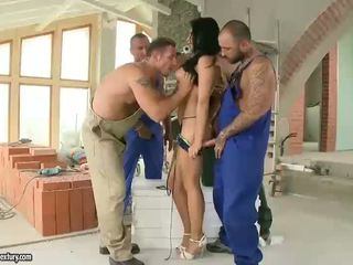 Aletta Ocean fucking with four guys