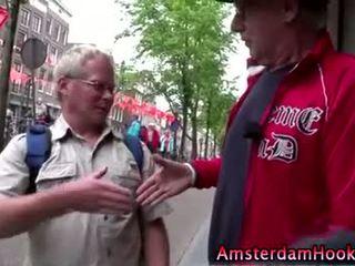 Amateur dutch whore gets a cumshot