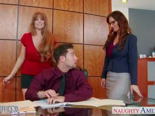 Milf birou prunci darla crane și syren de mer distribuie penis