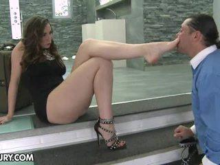 feticismo del piede, gambe sexy, footjob