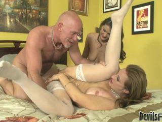 Mya Mayes, Erin Stone Have Three Some Porn Process