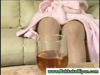 pissing, drinking, asian