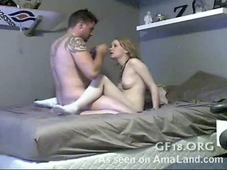 Blonde Gf Gets Filmed And Fucked