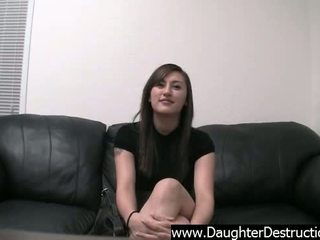 Virgin daughter assfucked and spermed on