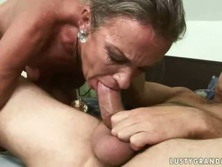 Naughty granny gets her ass drilled