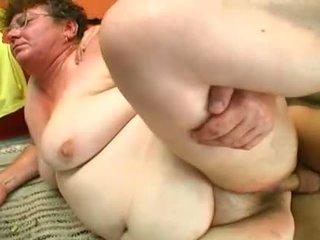 granny, fat, hairy