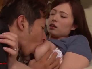 Japanese busty young wife cheating subs