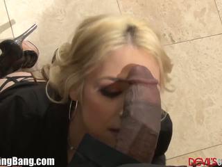 Sarah Vandella DP Gangbang with 4 Black Dicks