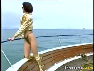 Outdoor Foursome On A Big Boat Classic