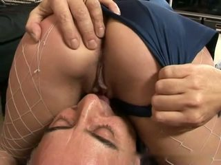 Old Man and Blonde Girl in Police Uniform: Free Porn 40
