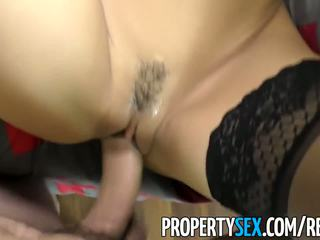 PropertySex - Latina agent squirts on client