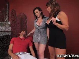 пума, пълен 3some, фалшиви цици най-горещите