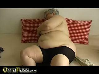 invecchiato, nonna, grasso