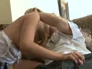 Horny babe Ashlynn Brooke blows a hard meat shaft