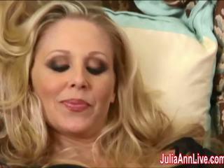 Sexy Milf Julia Ann Cums Hard in Stockings!