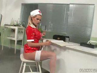 Hot Nurses in Stockings Masturbating Solo