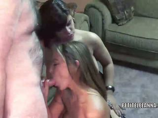 Leeanna Heart and Angel Lynn suck some dick