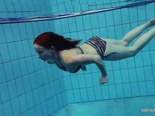 Redheaded katrin is stripping underwater, porno 66