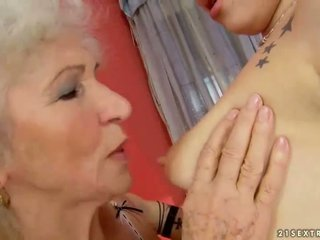 licking, lezzy, lezzies, grandma