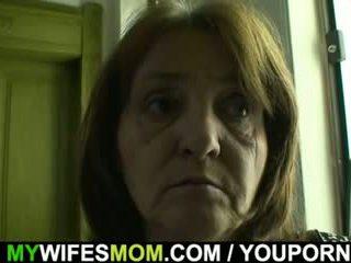 Horny guy bangs his girl s old mom