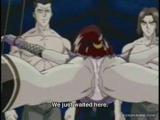 Hentai anime ninja bound and violated
