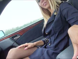 Picking and fucking a hot stewardess