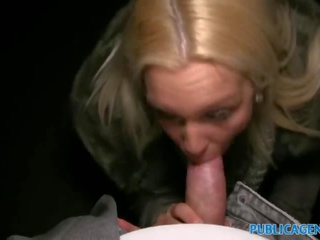Public Agent Rooftop sex for sexy arsed blonde