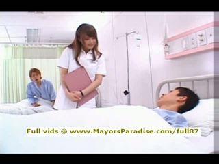 Akiho yoshizawa fra idol69 frekk asiatisk sykepleier likes til gjøre blowjob