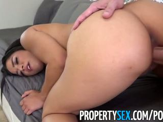 PropertySex - Landlord blackmailed by girlfriend's 19 year old sister