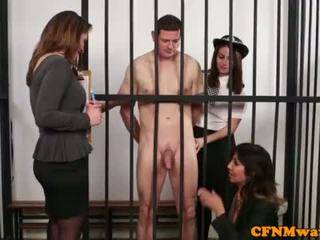 "Brit dom CFNM police babe humiliate prisoner <span class=""duration"">- 6 min</span>"