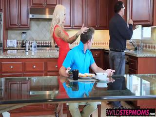 Hot fucking with MILF Helly stepson Van and gf Valerie