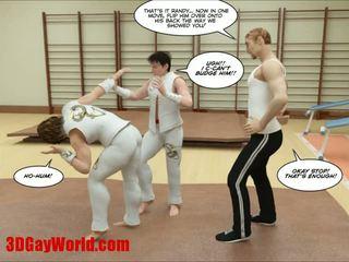 Kung fu guys ทรีดี เกย์ การ์ตูน animated comics