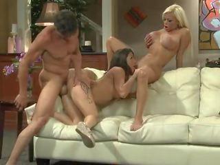 Nikita Von James and Charity Bangs threesome