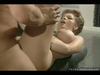 Seductive whore Anna Malle receives a warm amount of cock fluid in her mouth
