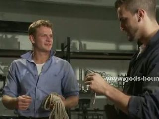 Men find out bondage device and use it
