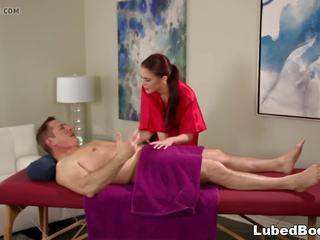 John fort enjoys stress relief massage, porno de