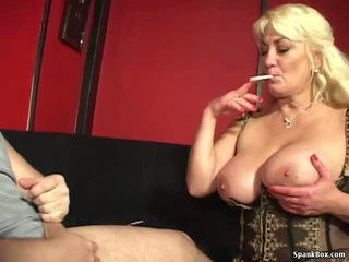 Busty Mom Gives Blowjob and Smokes Cigarette: Free Porn f7