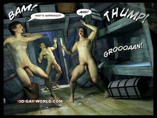 Adventures de cabin b-y 3d gay mundo comics