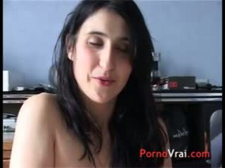 Accidental creampie Hairy girl brunette French amateur
