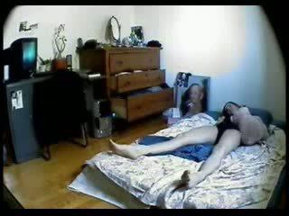 Hidden Cam In Bedroom Of My Sister Caught Her Masturbating