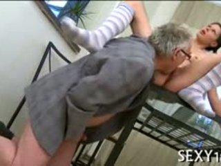 Fascinating Lass Getting Her Beaver Deflowered By Teacher