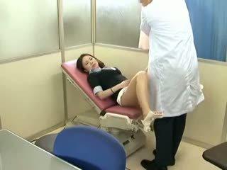 briunetė, voyeur, kūdikis, masažas