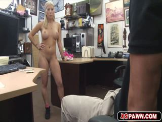 Sweet sexy blonde babe getting fucked up