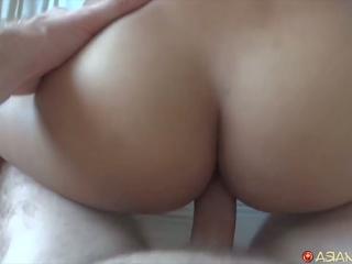 아시아의 비탄 sucks 떨어져서 화이트 수탉, 무료 고화질 포르노를 8f