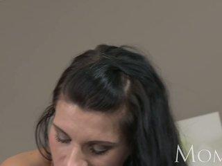 MOM Elegant black haired hottie needs orgasms