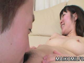 Kayo Misawa - Sex Addicted JAV Mature Riding a Young.
