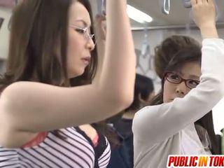 japansk, offentliga kön, gruppsex, avsugning