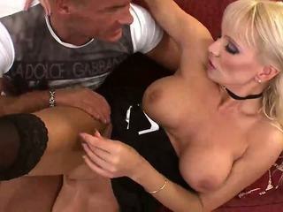 Anal test drive for busty and sexy mature lady