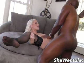 Cute Teen Blonde Wth Hairy Pussy Fucked by Black...