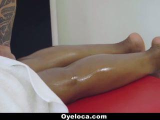 OyeLoca - Ebony Latina Oiled up And Fucked